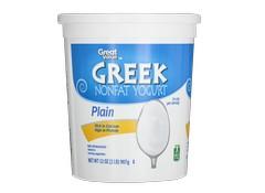 Great Value Walmart Plain Nonfat Greek Yogurt Yogurt