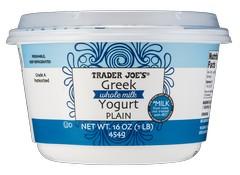 Trader Joe S Plain Whole Milk Greek Yogurt Yogurt