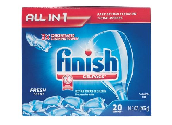 Finish Gelpacs Dishwasher Detergent - Consumer Reports