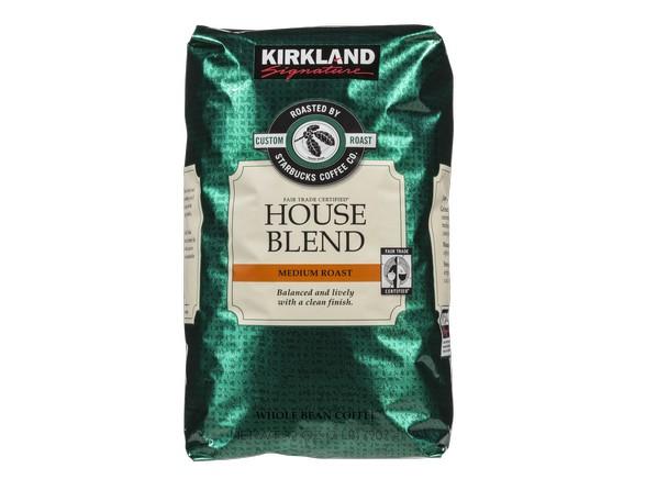 Kirkland Signature  Costco  House Blend roasted by Starbucks coffee. Kirkland Signature  Costco  House Blend roasted by Starbucks
