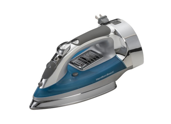 Consumer Reports Irons ~ Hamilton beach chrome electronic steam iron