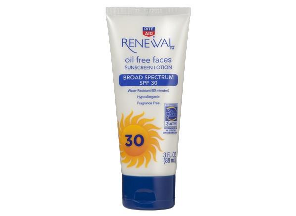 Rite Aid Renewal Oil Free Faces Spf 30 Sunscreen