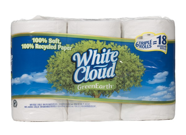 White Cloud Green Earth Bath Tissue  Walmart  toilet paper. White Cloud Green Earth Bath Tissue  Walmart  Toilet Paper