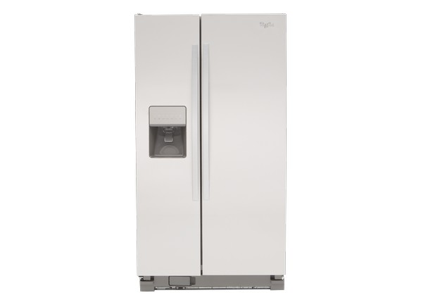 whirlpool side by side refrigerator white. side-by-side refrigerator. whirlpool side by refrigerator white