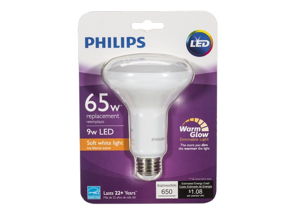 philips 65w br30 with warm glow dimmable led flood lightbulb reviews consumer reports. Black Bedroom Furniture Sets. Home Design Ideas
