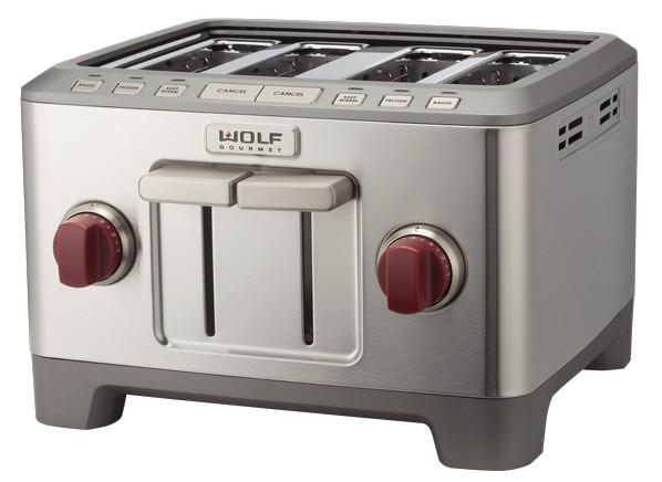 Wolf gourmet 4 slice wgtr104s toaster for Wolf toaster oven