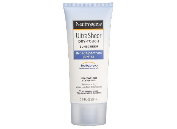 Neutrogena Ultra Sheer Dry Touch Lotion Spf 45 Sunscreen
