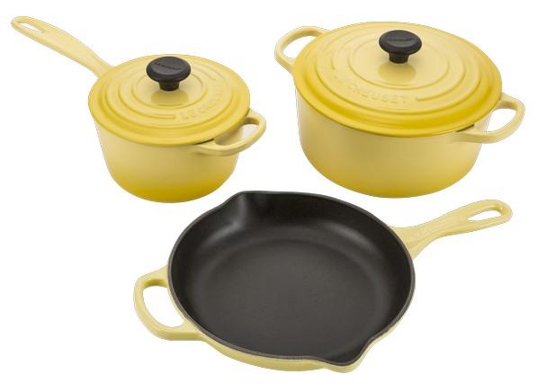 le creuset signature cast iron 5pc kitchen cookware