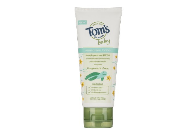 Tom S Of Maine Baby Lotion Spf 30 Sunscreen Consumer Reports