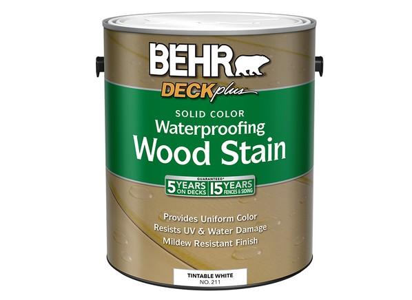 Behr Deck Plus Solid Color Waterproofing Wood Stain (Home