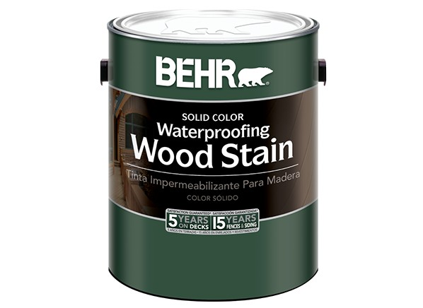 Behr Solid Color Waterproofing Wood Stain (Home Depot