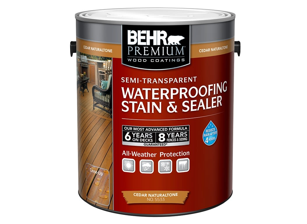 Behr Premium SemiTransparent Waterproofing Stain Sealer Home - Behr premium wet look sealer reviews