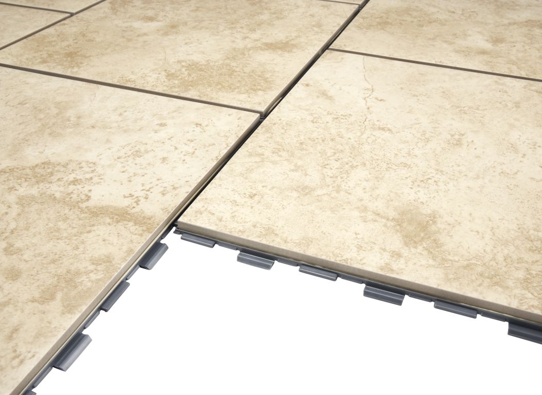 SnapStone Beige Flooring Consumer Reports - Slick tile floors