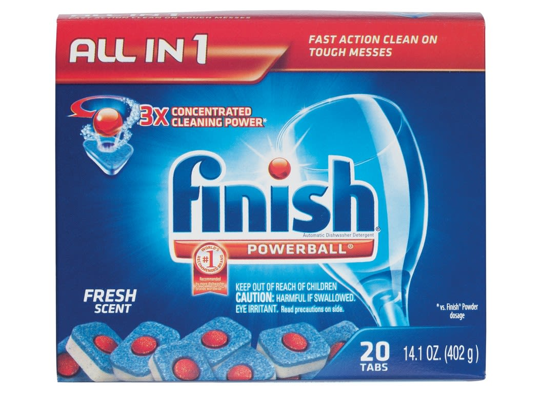 Finish Powerball Tabs Dishwasher Detergent - Consumer Reports