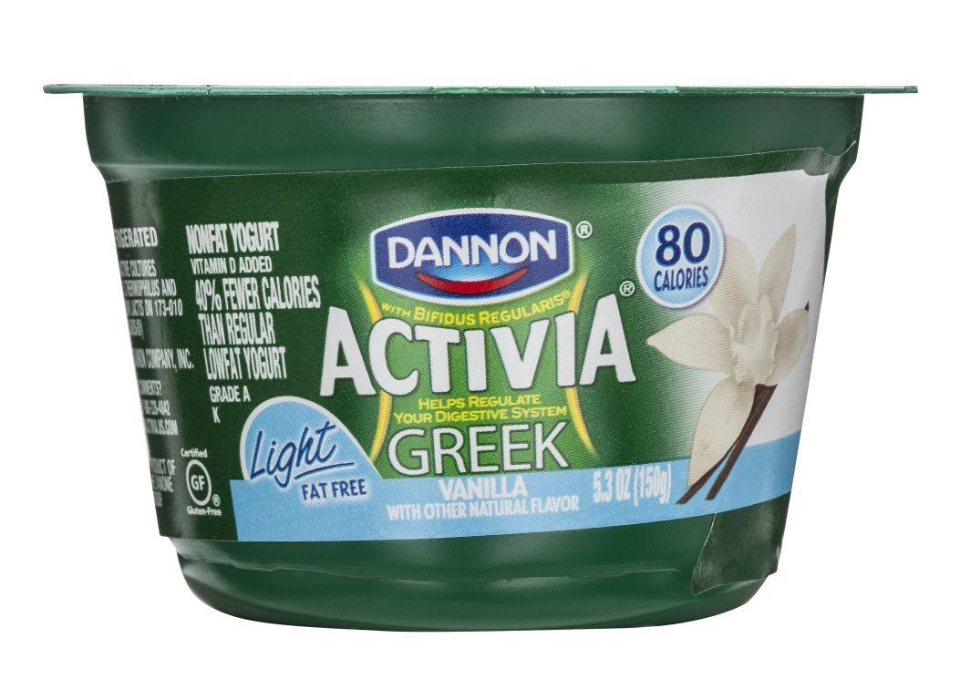 Dannon Activia Light Vanilla Yogurt Nutrition Facts ...