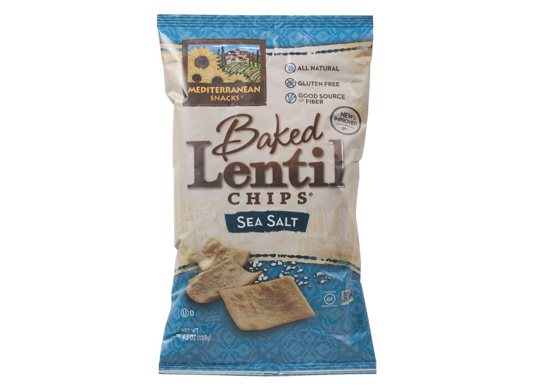 Mediterranean Snacks Baked Lentil Chips Sea Salt Healthy