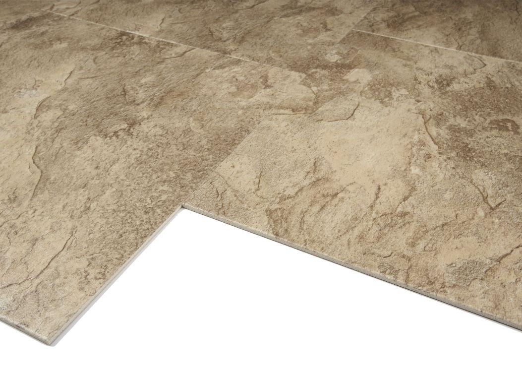 Congoleum DuraCeramic Sierra Slate SI Golden Greige Flooring - Durastone flooring reviews