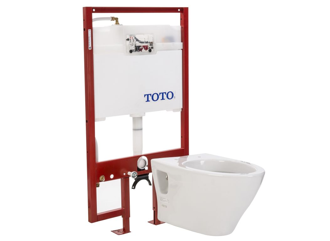 Toto Aquia CT418FG#01 with TOTO DuoFit In-Wall Tank System WT151M ...