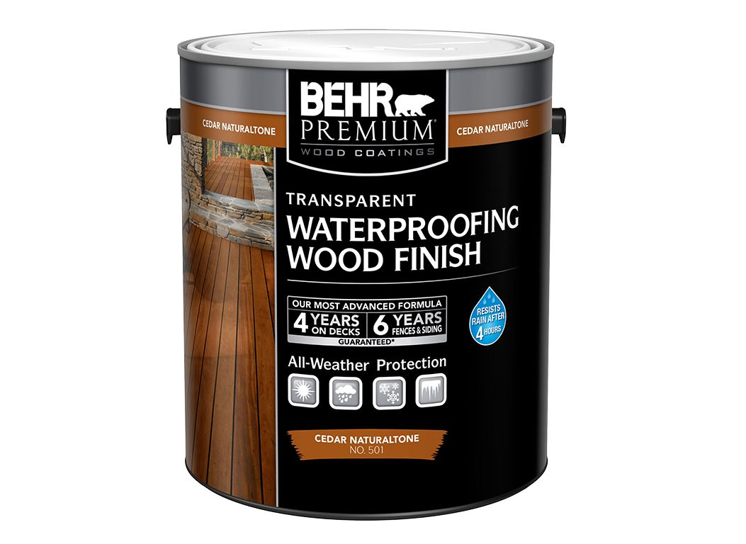 Behr premium transparent waterproofing wood finish home - Behr exterior wood stain reviews ...