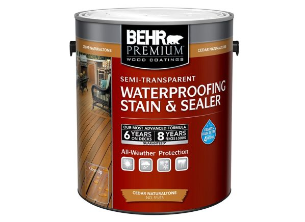 Behr exterior wood stain semi transparent behr premium 8 oz st 365 cape cod gray semi for Home depot exterior wood stain