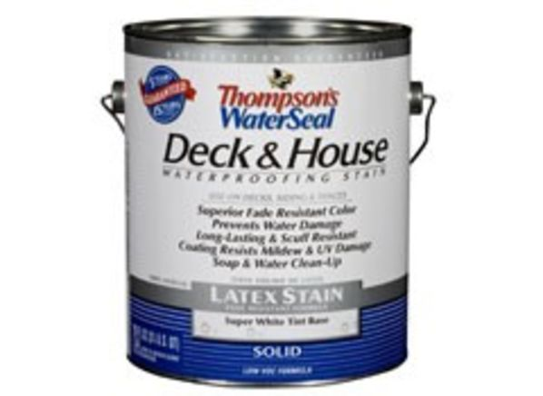 Thompson's WaterSeal Deck & House Solid Latex Wood Stain ...