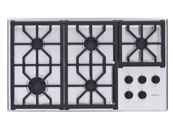 Wolf Cg365p S Gas Cooktop