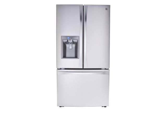 steel elite stainless wide cu kenmore only door select dispenser doors includes with refrigerator freezer delivery hookup french available bottom and in ft cities