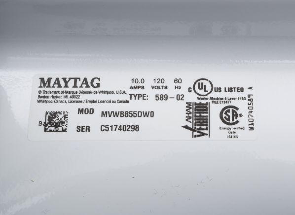 Maytag Bravos Mvwb855dw Washing Machine Consumer Reports