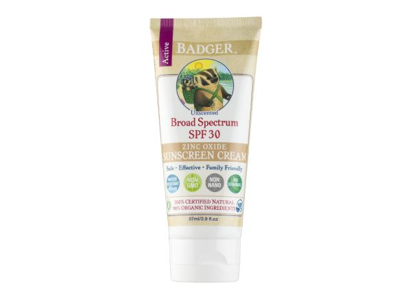 Badger Active Unscented Cream SPF 30