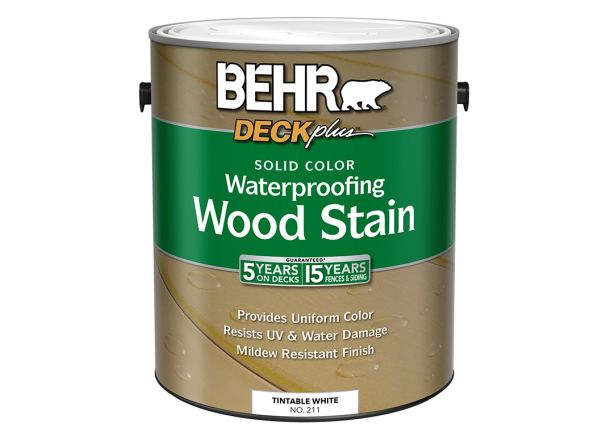 behr deckplus solid color waterproofing wood stain home depot wood
